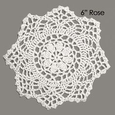 Lace Doily 4 Pack  ROSE pattern  Table by SilverStarfishDesign