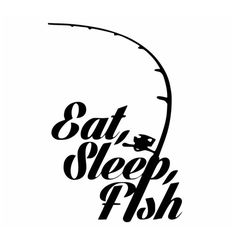 Fishing Sticker Name Fish Eat Sleep Decal Angling Hooks Tackle Shop Posters Vinyl Wall Decals Hunter Decor Mural Sticker