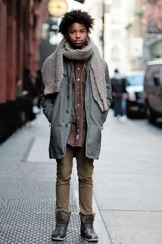New York street style #natural #afro #hair