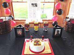 An adult firefighter birthday