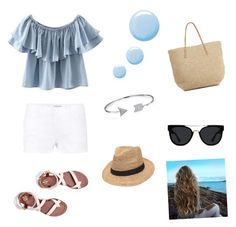 """""""blue"""" by giorgia-brea on Polyvore featuring Frame Denim, Tory Burch, Target, Chicnova Fashion, Bling Jewelry, Quay, Gottex and Topshop"""