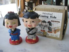 Vintage Pair of Asian Kissing Nodders in by VintageByThePound, $45.00