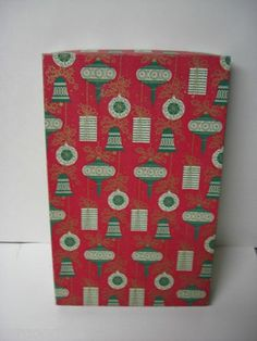 Old Decorated Dept Store Christmas Gift Box VARIOUS ORNAMENTS (12/21/2011)