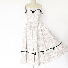 Vintage 1950s Dress / Strapless Dress / Party by 4birdsvintage