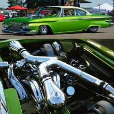 """Tony Netzel 61 Plymouth Belvedere Purchased From A North Dakota Junkyard In 1994 For $300 496 c.i. Blow Through Cross-Ram Intake With Dual Holley Carburetors & Twin 64mm Turbo's Send Power To A 700 Torque-Flite & Ford 9"""""""
