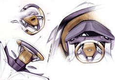 Ford Steering wheel sketches