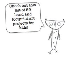 59 hand and foot print project for kids to make! (via @thecraftblog ). Will use for my infant class!