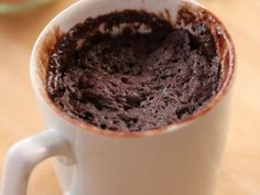 Chocolate Cake in a Mug-3 tablespoons all-purpose flour 3 tablespoons sugar 2 tablespoons cocoa powder 1/4 teaspoon baking powder Pinch of salt, optional 3 tablespoons milk 3 tablespoons vegetable oil Splash vanilla extract, optional 3 tablespoons chocolate chips  Read more at: http://www.foodnetwork.com/recipes/ree-drummond