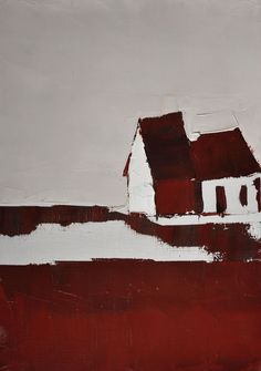 Sandra Pratt(American, b.1978) Red Barn oil on linen