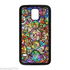 Brand Disney Characters Stained Glass Case Cover For Samsung Galaxy S5 Design