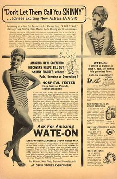 Vintage Weight Gain ad