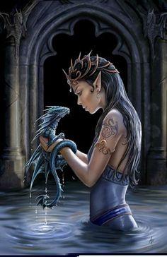 """""""Water Dragon"""" blank card"""