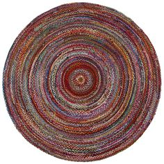 Shop for Brilliant Ribbon Multi Colored (6'x6') Round Rug. Get free shipping at…
