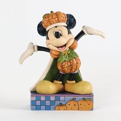 Jim Shore Mickey Mouse Pumpkin King Figurine