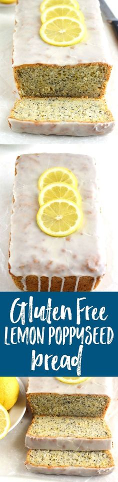 """This gluten-free/dairy-free lemon poppyseed bread tastes like spring. It's bright, fresh, and has the most amazing lemon glaze. You guys, I have been absolutely craving lemons lately. These cold, dreary winter days have me longing for warmer weather and spring flavors. And for me, you just can't get any more """"spring"""" than lemons. So...Read More »"""