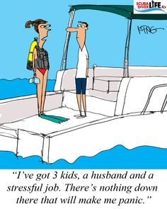 Scuba Cartoon: Not Going to Panic |