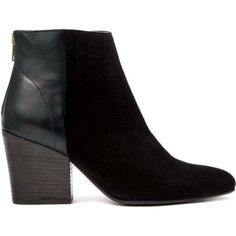 fcff1f486f23d Details about H By Hudson Suede Leather Heeled Black Meli Zip Pointed Ankle  Boots 3 to 7 New