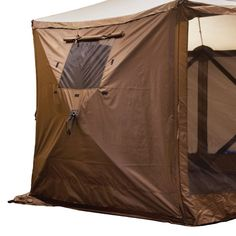 Clam Outdoors Quick-Set 3-Pack Screen Shelter Wind Panels with Windows - Brown