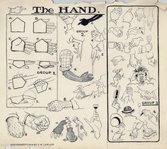 The Landon Course of Cartooning, How to Draw Hands