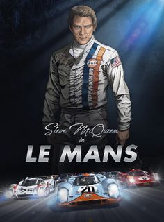 Steve McQueen is back in Le Mans. Discover the best art graphic novel on car racing ever made. The novel is based on the cult movie Le Mans (1971)