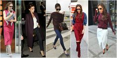 styl victorii becham burgund Viktoria Beckham, Victoria Beckham Stil, Second Best, Red Carpet, Two By Two, Style Inspiration, Fashion Outfits, Fashion Suits, Inspired Outfits