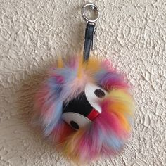 colorful monster bag charm Super cute monster with full of color genuine fur.  Price fiirm ( put brand name just for more views) FENDI Bags 1f22cf461a