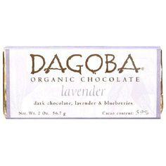 Dagoba Chocolate Lavender Dark Chocolate Bar 59% (12x2 Oz)