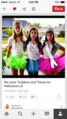 We were Toddlers and Tiaras for Halloween Diy Halloween Costumes For Girls, Unicorn Halloween Costume, Halloween Parties, Halloween College, Deer Costume, Turtle Costumes, Cowgirl Costume, Couple Halloween, Halloween Halloween