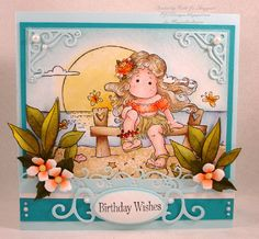 Water Theme Challenge Card by PJStamps - Cards and Paper Crafts at Splitcoaststampers