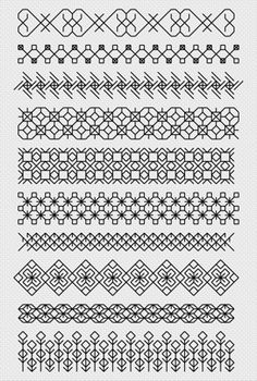 ♥I've not done any blackwork yet, these might be my first attempt