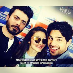 "aliaabhatt: ""#KapoorAndSons now on snapchat!!!!"""