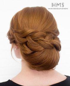 Chignon Bun Hairstyles for wedding / http://www.meetthebestyou.com/20-fabulous-chignon-bun-hairstyles-for-wedding-prom/