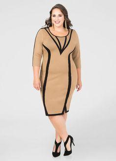 Princess Seam Bodycon Sweater Dress