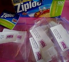 collection bags to hand out to the families of the school.   Using #ZIPLOC bags and #AVERY labels! box tops for education