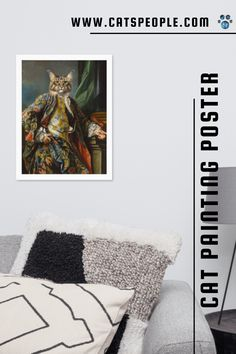 Nothing like a touch a humor in your home decor to lift your mood. This poster is the purrfect piece for cat lovers and cat owners who want to spice up their decor with a touch of cat humor. Printed on thick, durable, matte paper, this renaissance painting style poster is made specifically for cat moms and cat dads, a perfect addition to your space's decoration. #catowner #catlovergift #catmom #cats #catposter #catmomhomedecor #funnycatdecor Cat Posters, Renaissance Paintings, Cat Dad, Cat Design, Cat Lover Gifts, Cat Memes, Funny Cats, Spice, Dads