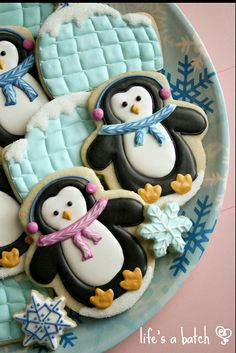 Penguin & Igloo Cookies - by Life's a Batch