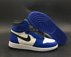 981cd2cfbb Air Jordan 1 Retro High GS Game Royal For Sale, Dressed in a Game Royal,  Summit White, and Black color scheme. This Air Jordan 1 has a similar color  ...