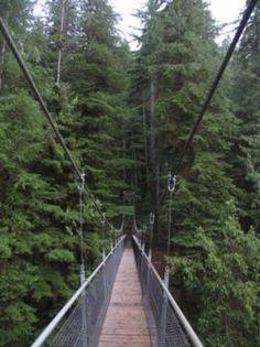 Suspension bridge Drift Creek Falls,Oregon cost near Lincoln City. =0)