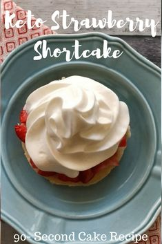 Keto Strawberry Shortcake Low Carb 90 Second Cake