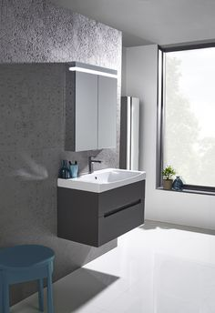 Roper Rhodes Diverge 800mm Charcoal Elm Wall Mounted Unit http://www.roperrhodes.co.uk/range/diverge/