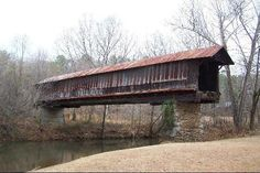~Waldo Covered Bridge in Alabama~  Waldo is home to the Waldo Covered Bridge which spans Talladega Creek. Used by Wilson's Raiders during the Civil War, the bridge is near Riddle's Hole, an 1840 gold mine that continued operating until World War II.   Read more at: http://members.virtualtourist.com/m/4a9c6/b5e82/#ixzz1qHZsSsX4