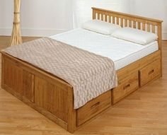 small double captains bed frame with storage drawers waxed solid pine wooden captains bed frame with 6 handy storage drawers
