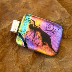 Fused Dichroic Pendant Dichroic Jewelry Fairy Dancing by GlassCat, $22.00