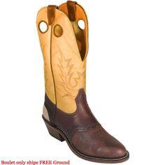 9107 Boulet Men's Buckaroo Western Boots - Chestnut