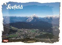 Seefeld in Tirol, Austria, Zugspitze Rare Rare Postcard Tirol Austria, Picture Postcards, Rare Pictures, Mount Rainier, Poster, Mountains, Board, Nature, Travel