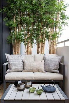 41 Creative Diy Small Apartment Balcony Garden Ideas bamboo for . - 41 Creative Diy Small Apartment Balcony Garden Ideas bamboo for privacy - Small Balcony Design, Small Balcony Garden, Small Balcony Decor, Balcony Plants, Small Balconies, Modern Balcony, Small Terrace, Balcony Gardening, Balcony Bench