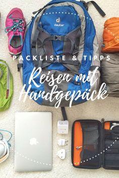 Reisen mit Handgepäck – sechs ultimative Tipps wie auch Du ausschließlich mit Handgepäck reisen kannst. #Reisen #Handgepäck #Packliste #Urlaub #Reiseblog