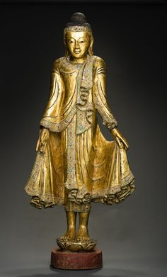 Stehender Buddha im Mandalay-Stil | Galerie Zacke