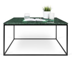 Temahome Gleam Sofabord - Grøn marmor, sort stel 75 cm Coffe Table, Marble Top, End Tables, Interior Inspiration, Chrome, Steel, Wood, Design, Accent Tables