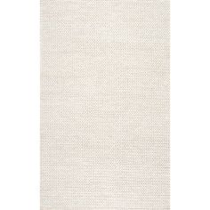 nuLOOM Textures Cable Chunky White Area Rug | Wayfair :: $513 for 8x10 (5x8 for bedroom is $262) note- color is really more cream/off-white according to reviews